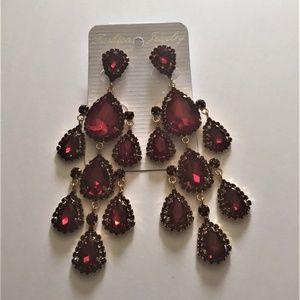 Jewelry - Teardrop Chandelier Earrings